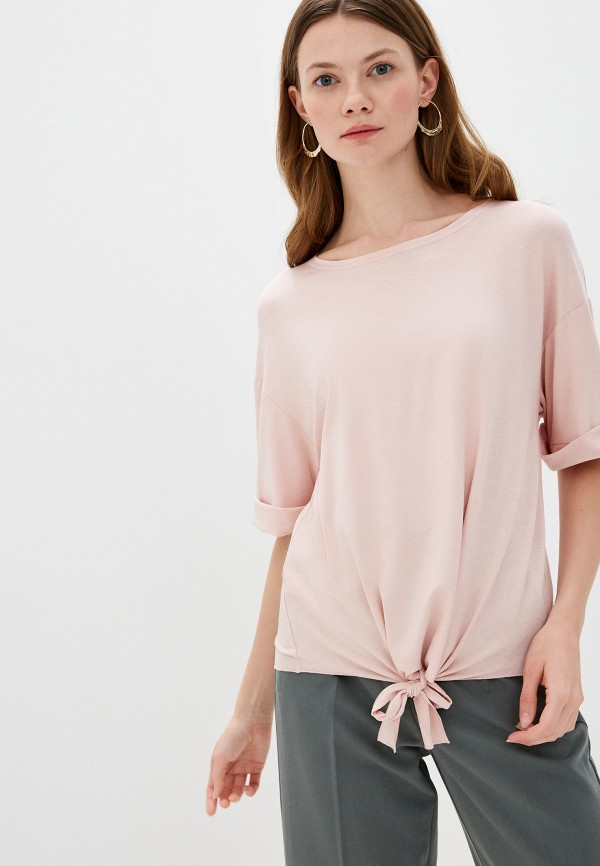 женская блузка с коротким рукавом adzhedo, розовая
