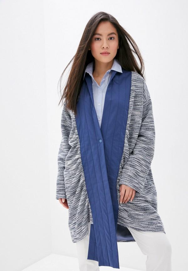 женское пальто adzhedo, синее