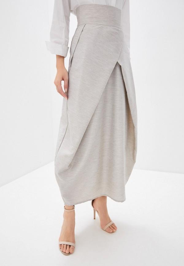 женская юбка-трапеции adzhedo, бежевая