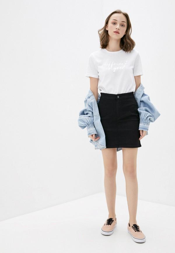 Фото 2 - Женскую юбку Befree черного цвета
