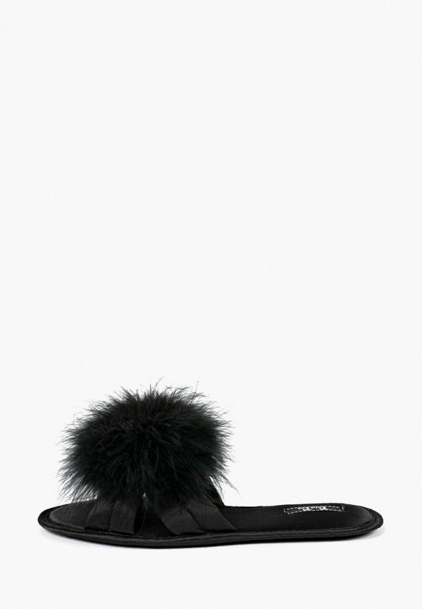 женские тапочки petit pas, черные
