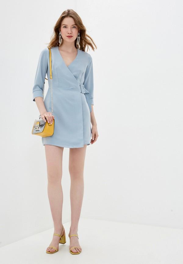 Фото 2 - Женское платье Befree голубого цвета