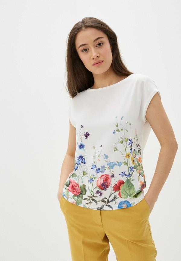 женская блузка с коротким рукавом top secret, белая