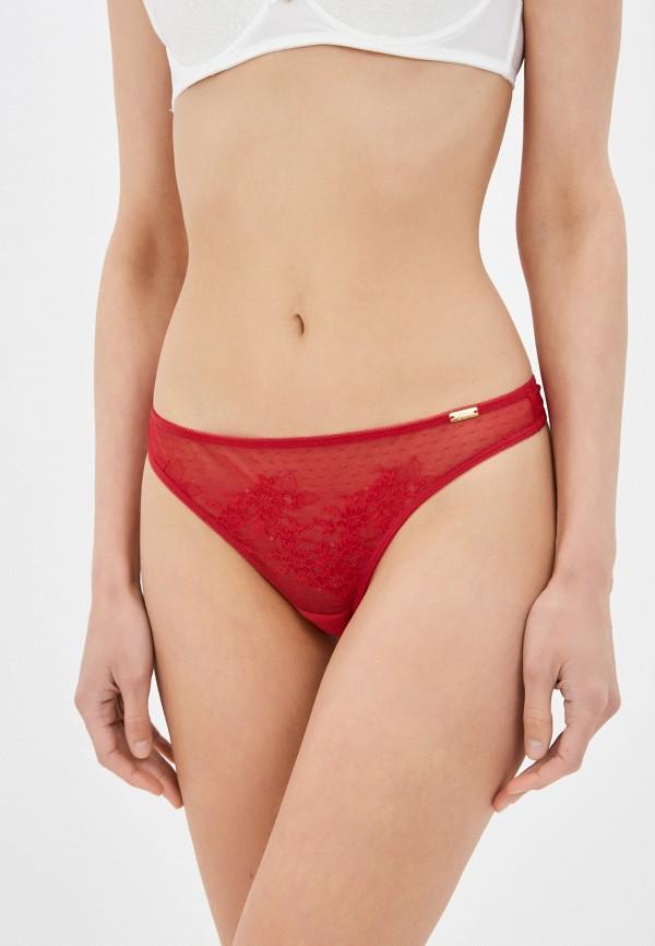 женские трусы-стринги gossard, красные