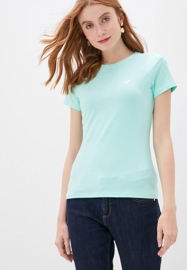 женская футболка viserdi, бирюзовая