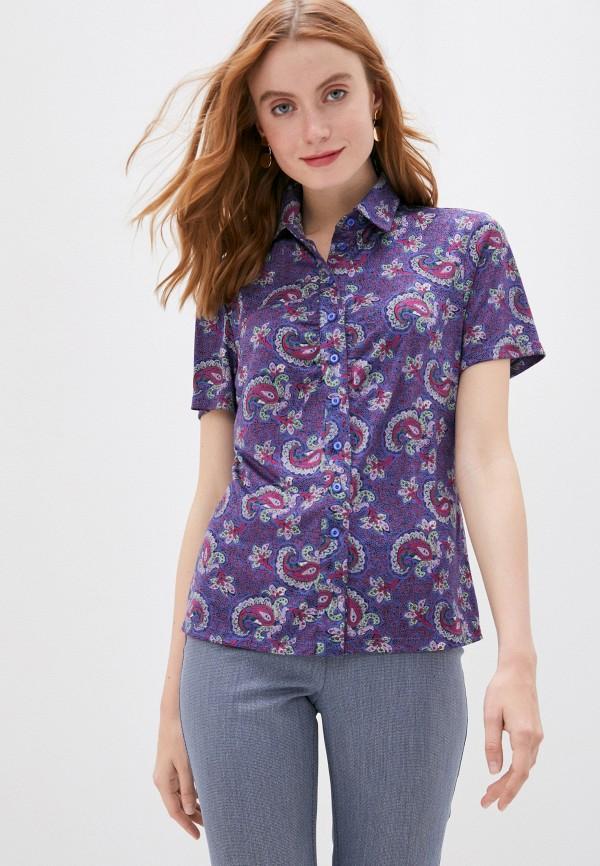 женская рубашка с коротким рукавом viserdi, фиолетовая
