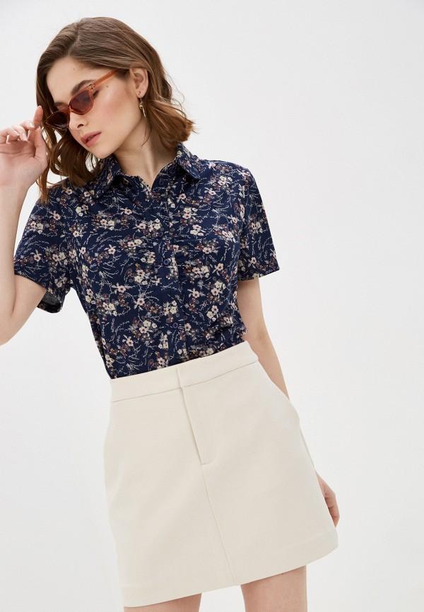 женская блузка с коротким рукавом viserdi, синяя