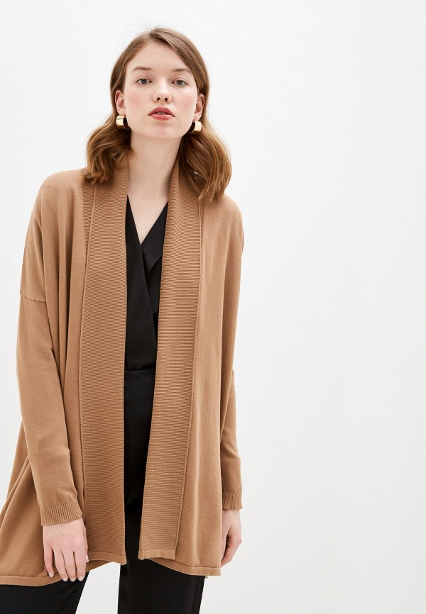 женский кардиган wool studio, коричневый