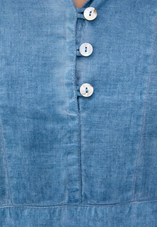 Блуза Agenda цвет синий  Фото 4