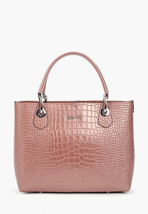 женская сумка-шоперы pazolini, розовая