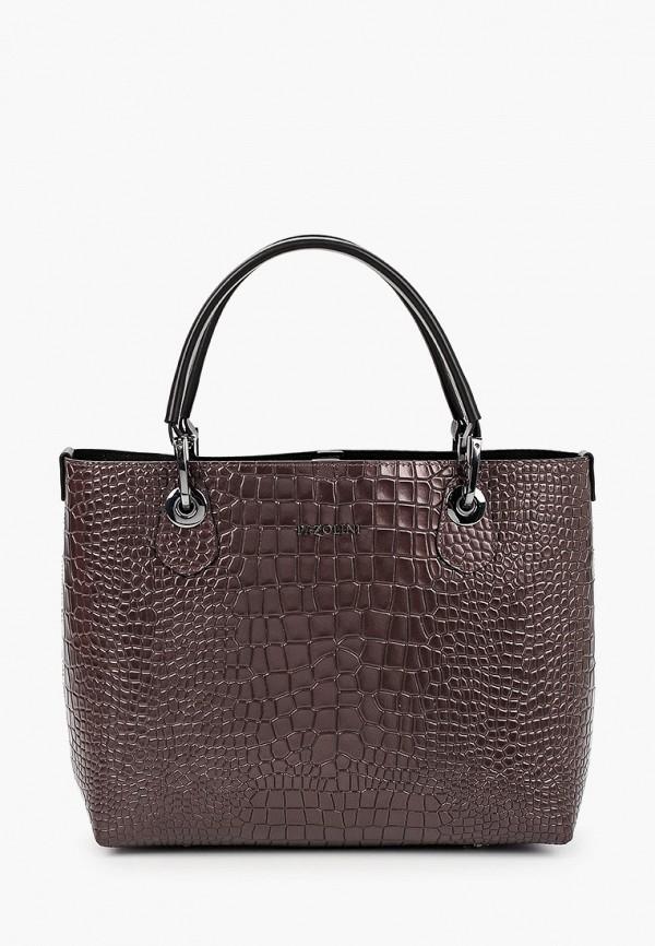 женская сумка-шоперы pazolini, коричневая