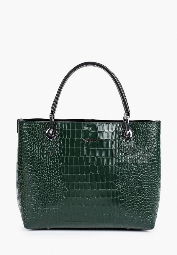 женская сумка-шоперы pazolini, зеленая