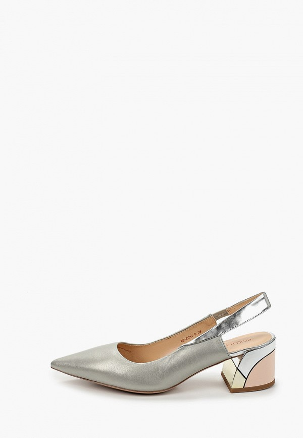 женские туфли pazolini, серебряные