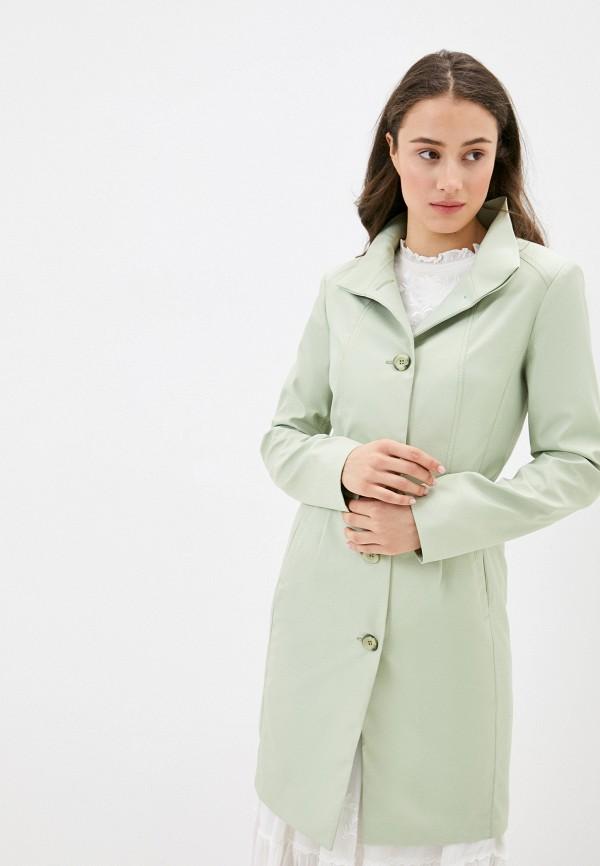 женский плащ rosso style, зеленый