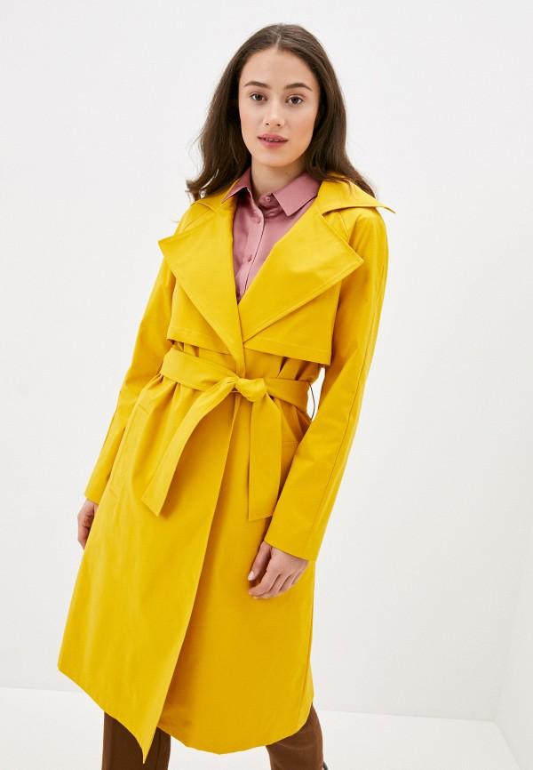 женский плащ rosso style, желтый