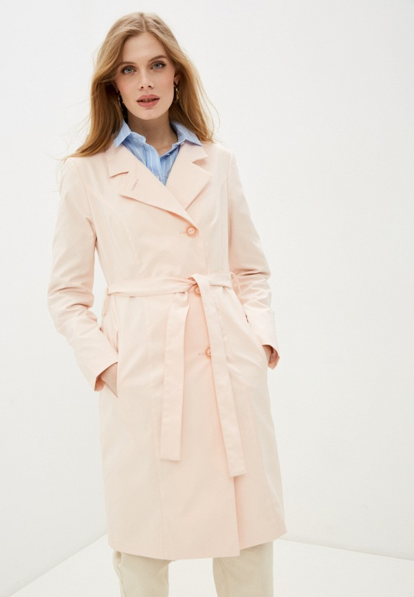 женский плащ rosso style, розовый