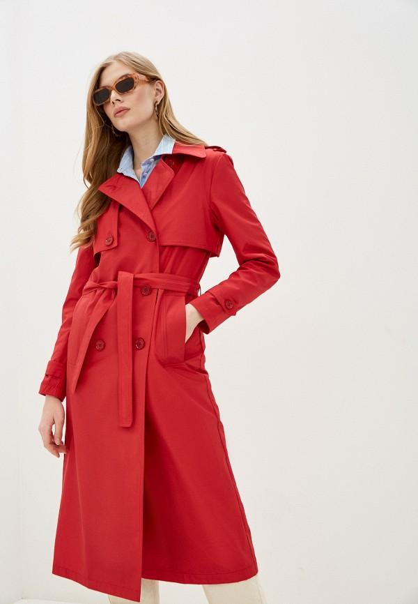 женский плащ rosso style, красный