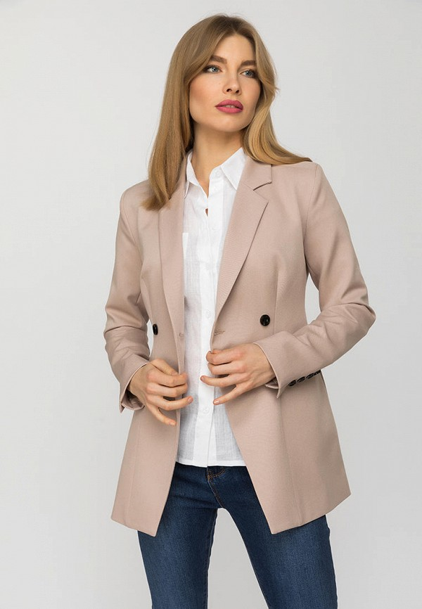 женский пиджак gloss, бежевый
