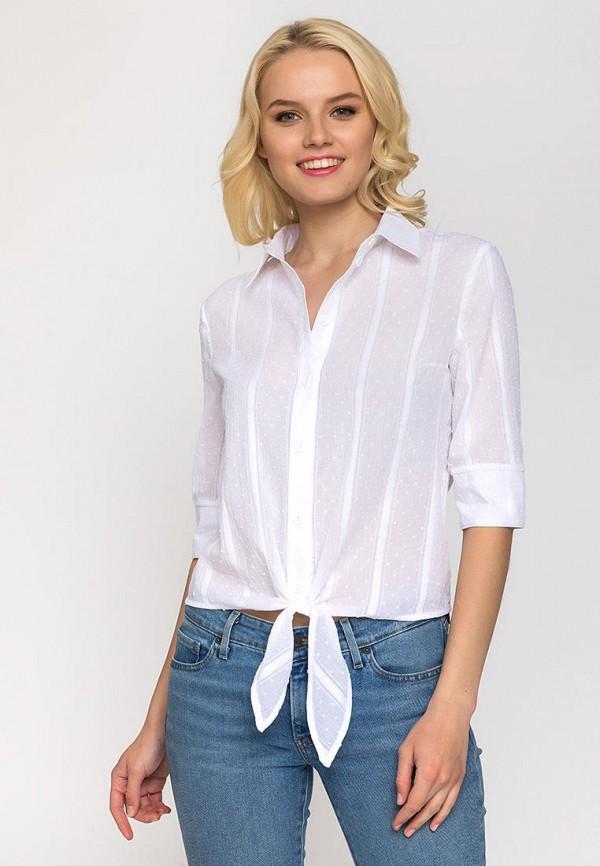 женская блузка с длинным рукавом gloss, белая