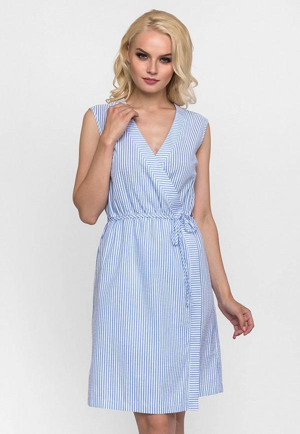 женское платье с запахом gloss, голубое