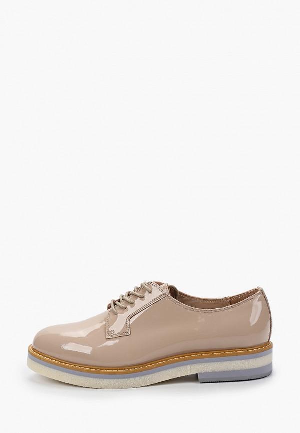 женские низкие ботинки mascotte, бежевые