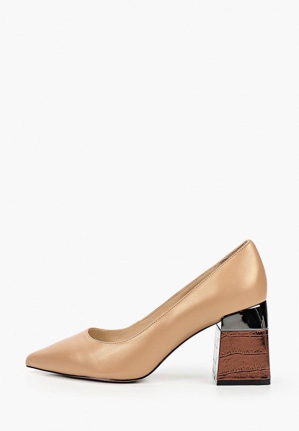 женские туфли с закрытым носом mascotte, бежевые