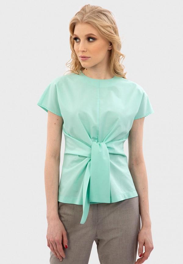 женская блузка энсо, бирюзовая