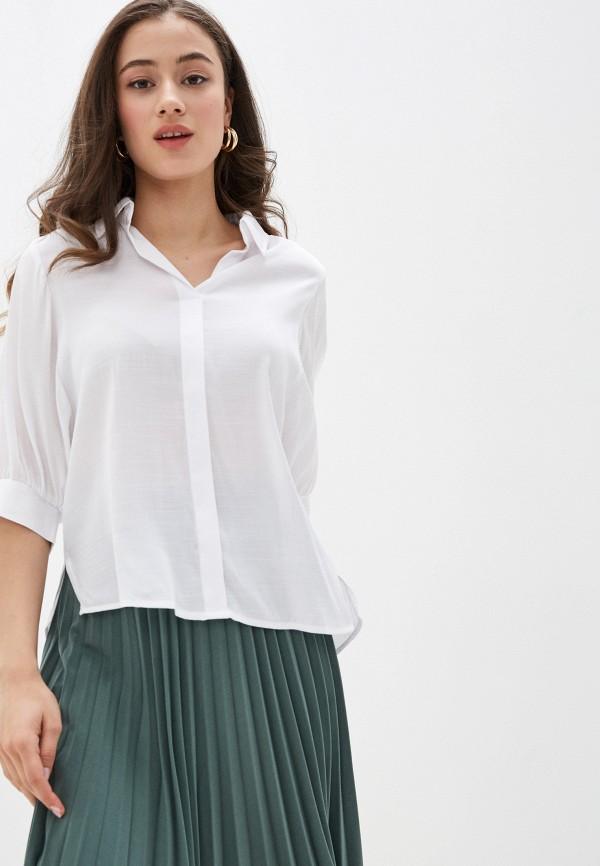 женская блузка с коротким рукавом zarina, белая
