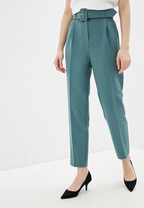 женские повседневные брюки zarina, бирюзовые