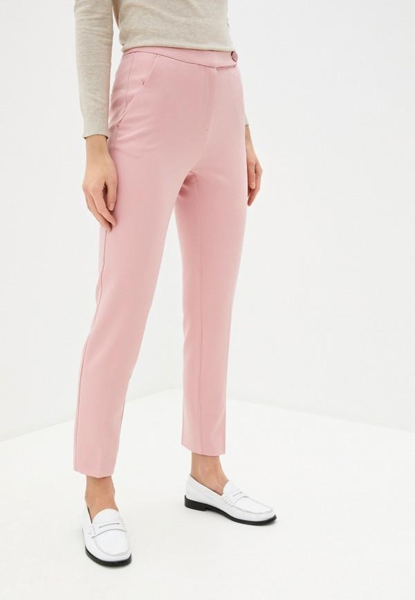 женские повседневные брюки zarina, розовые