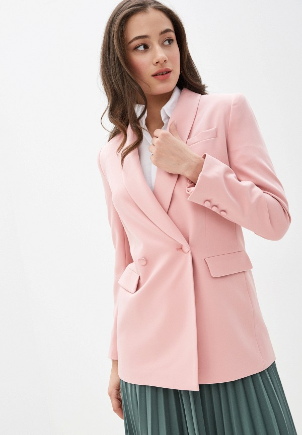 женский жакет zarina, розовый