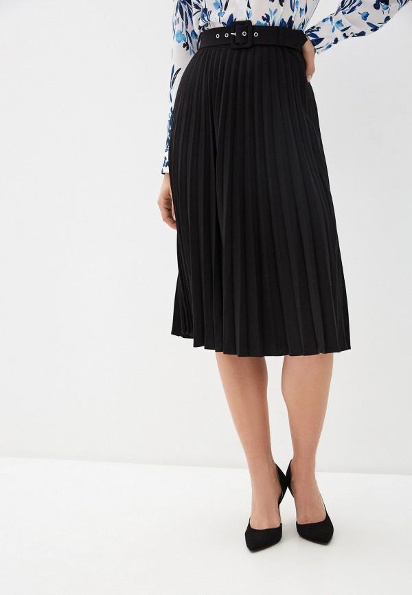 женская юбка миди zarina, черная