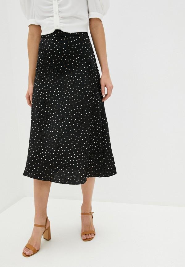 женская юбка-трапеции zarina, черная