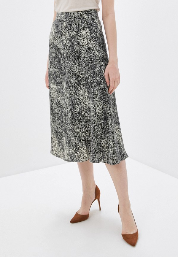 женская юбка-трапеции zarina, бежевая