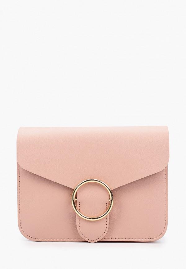 женская сумка через плечо zarina, розовая