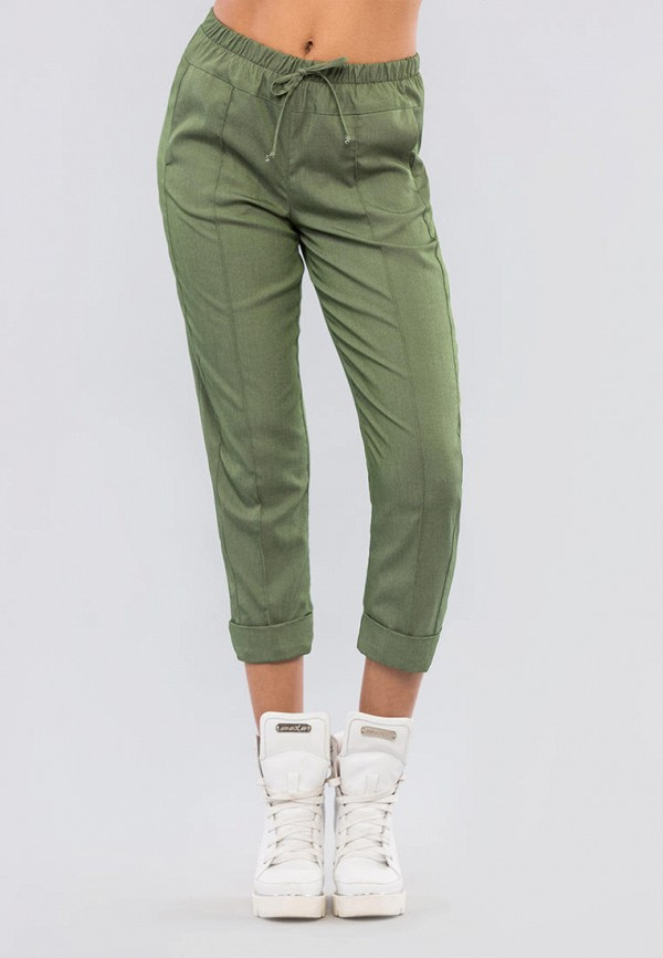женские зауженные брюки maxa, хаки