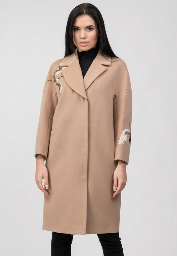 женское пальто raslov, бежевое