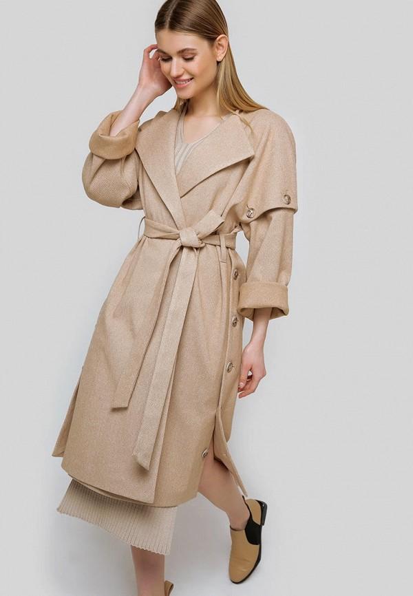 женское пальто cardo, бежевое