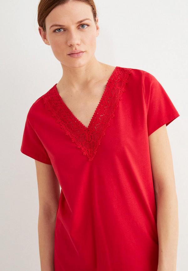 женская футболка women'secret, красная