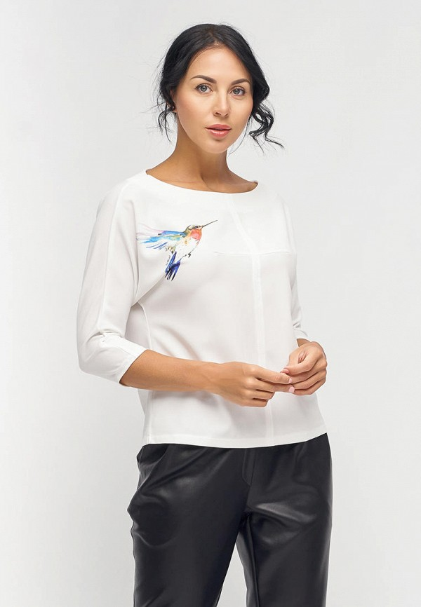 женская блузка с длинным рукавом bellart, белая