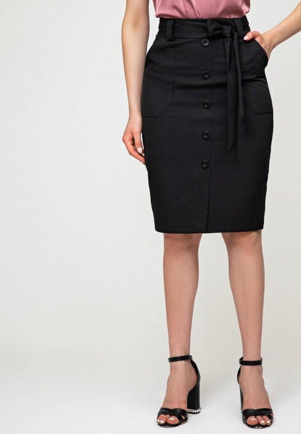 женская прямые юбка itelle, черная