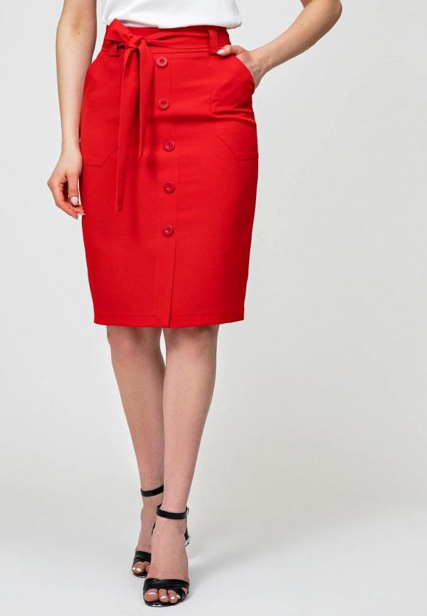 женская прямые юбка itelle, красная