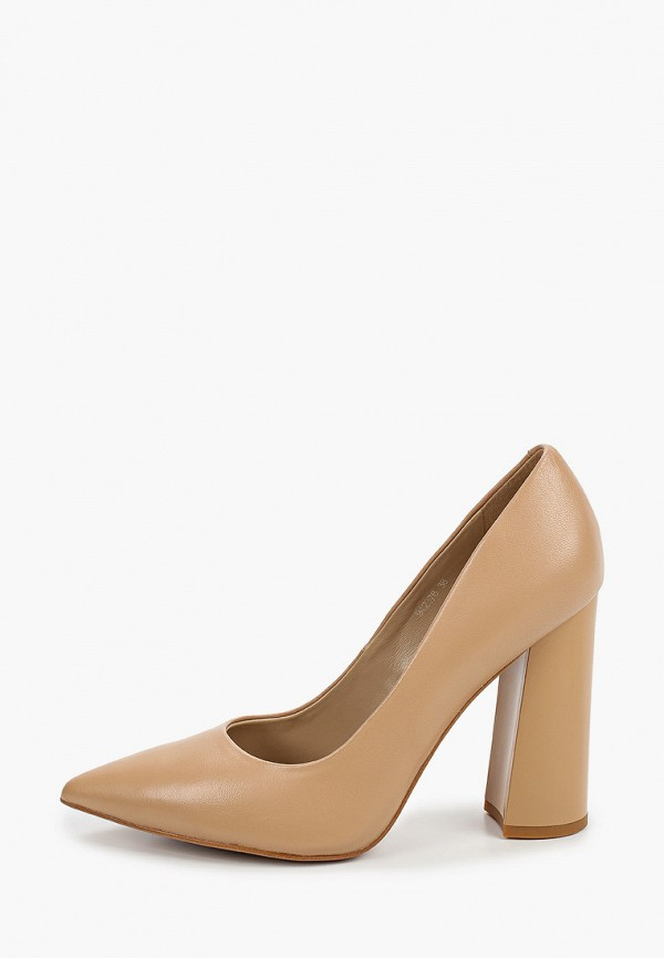 женские туфли с закрытым носом vitacci, бежевые