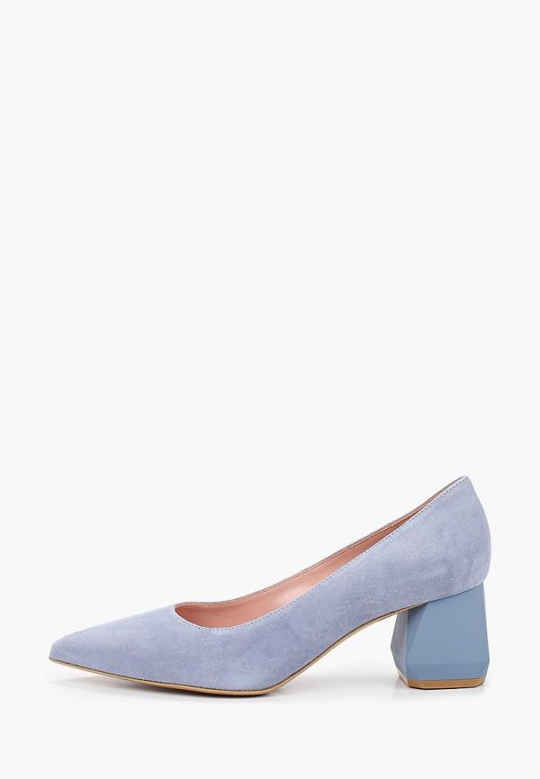 женские туфли с закрытым носом giotto, голубые