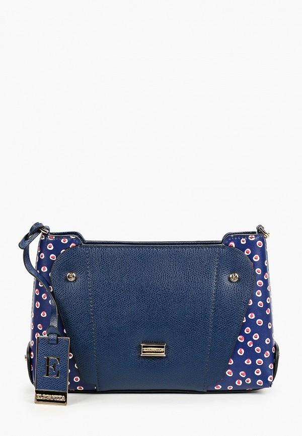 женская сумка через плечо eleganzza, синяя