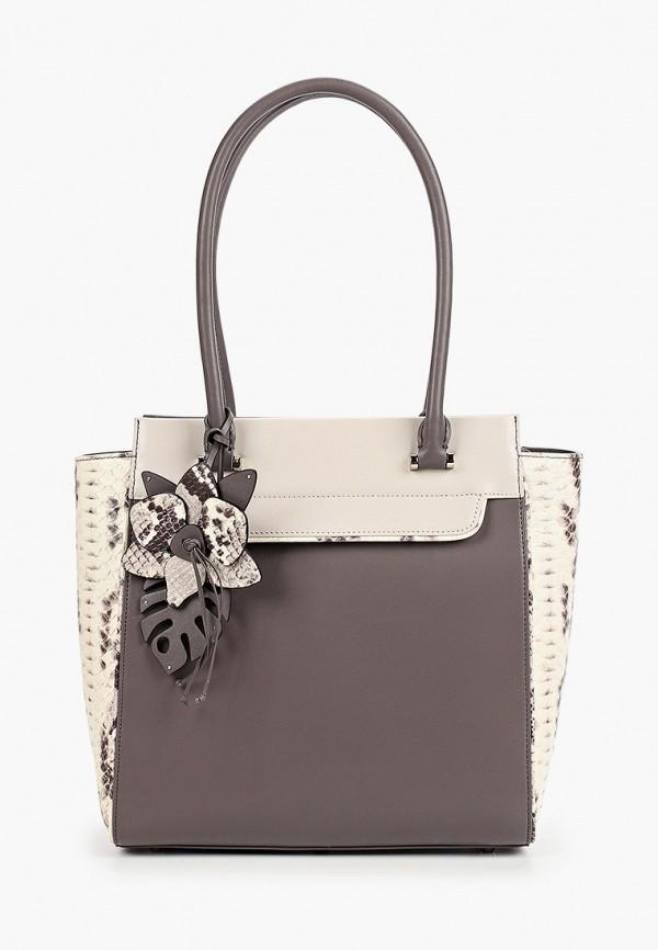 женская сумка с ручками eleganzza, коричневая