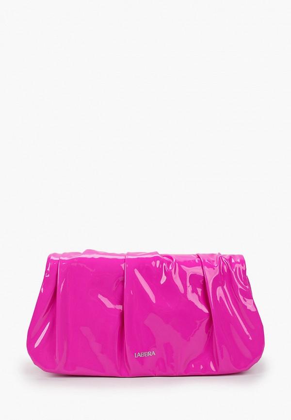 женский клатч labbra, розовый