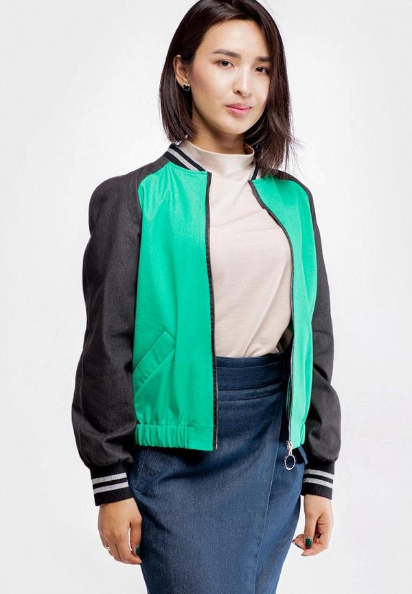 женская куртка true colors, зеленая