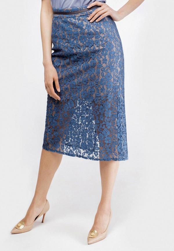 женская прямые юбка true colors, синяя
