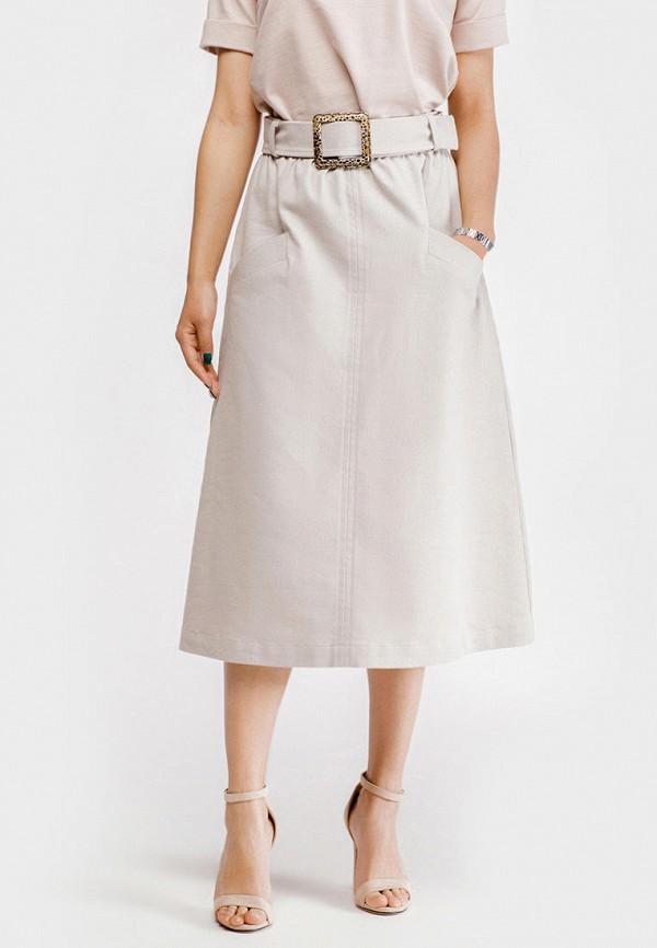 женская юбка true colors, бежевая